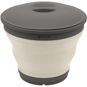 Outwell Collaps Bucket with Lid Cream White